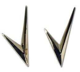 Corvette Emblems, Side Script Gold V'S, 1955