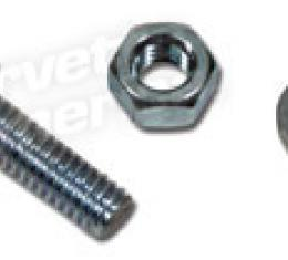 Corvette Cable Clamp Nut/Bolt/Lw, on Frame, 1964-1966