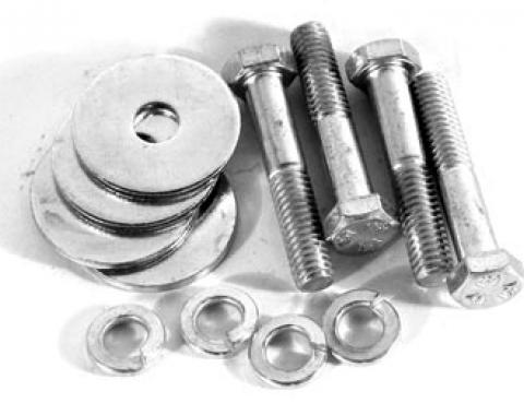 Corvette Upper Rad Bracket Bolt/Washer Set, 427, 1966-1968