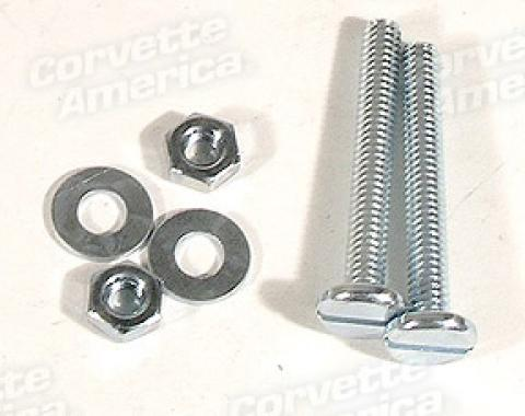 Corvette Hood Bumper Screw, Nut & Washer Set, 1953-1959