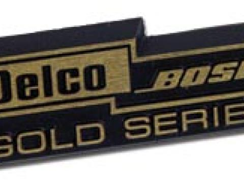 Corvette Speaker Grill Nameplate, with Bose Gold, 1990-1996