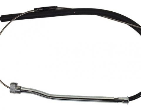Corvette Parking Brake Cable Stainless Steel, Front, 1988-1996