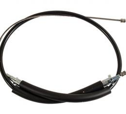 Corvette Parking Brake Cable, Stainless Steel, Front, 1984-1987