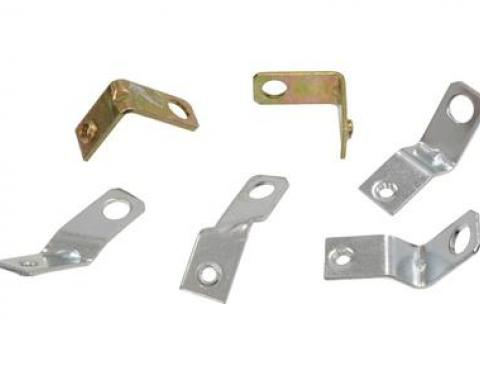 Corvette Ignition Shield Bracket Set, Lower 6 Pieces, 1963