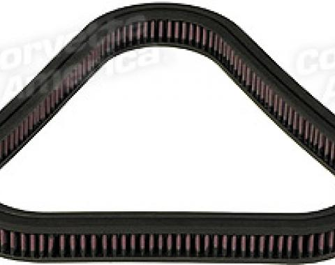 Corvette Air Filter Element with 3X2, K&N, 1967-1969