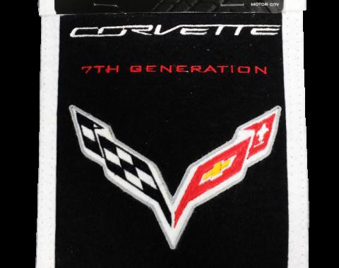 Genuine Wool Blend Mini-Banner with C7 Emblem