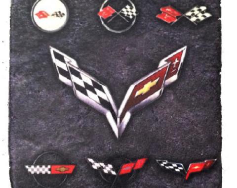 Corvette Generation Stone Tile Coaster, Dark Stone, Set of 4