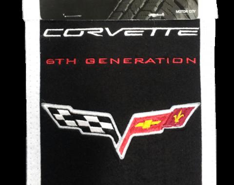 Genuine Wool Blend Mini-Banner with C6 Emblem