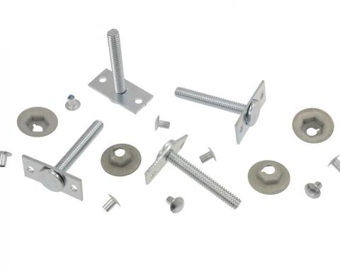 Corvette Heater Box to Firewall Stud Set, without Air Conditioning, 1963-1967