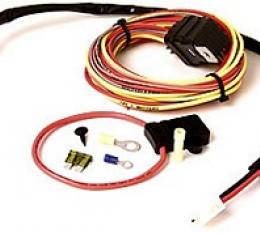 Corvette Radiator Cooling Fan Relay Wiring Harness, For Dual Fans, Be Cool, 1969-1982