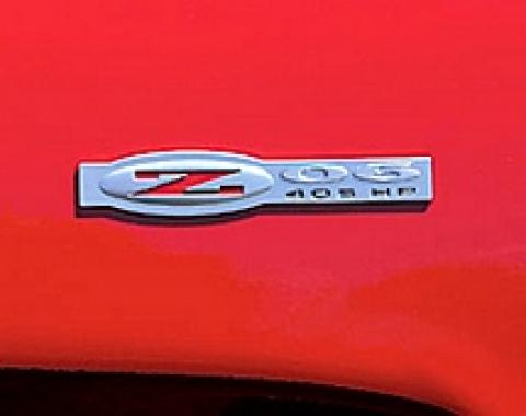 Corvette Z06 Side Fender Emblem, 2002-2004