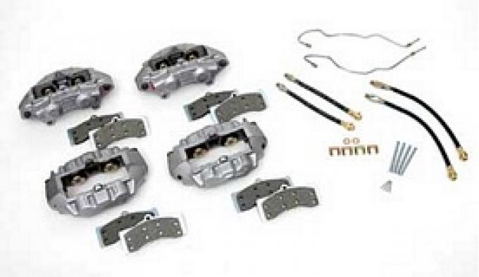 Corvette Brake Overhaul Kit, with New O-Ring Calipers, 1965-1982