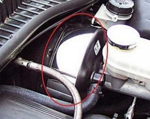 Corvette Power Brake Booster Cover, Stainless Steel, 1997-2010
