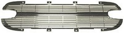 Corvette Grille, Front, Aluminum, With Silver Finish, 1961