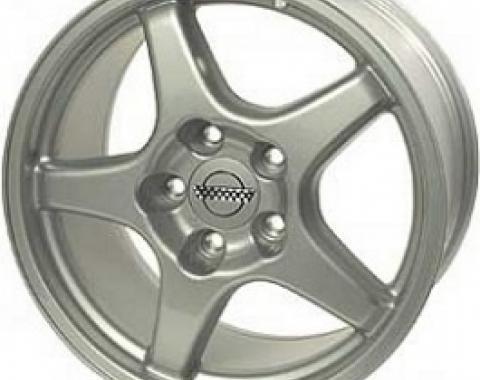 "Corvette Aluminum Wheel, 17""x 9.5"" x 56mm, 5-Spoke, 1988-2004"