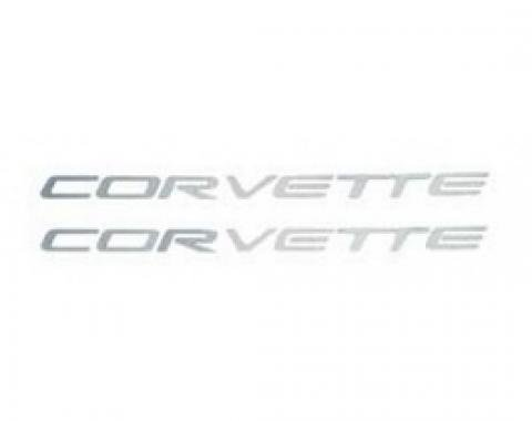 """Corvette Fuel Rail Cover Decals,  """"Corvette"""" Letters, 1997-2004"""