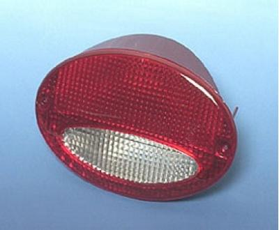 Corvette European Taillight, With Red/Clear Lens, Left, 1997-2004