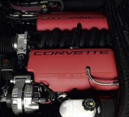 Corvette Fuel Rail Cover, Left, Red, Z06, 1999-2004