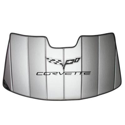 Corvette Accordian Style Windshield Sunshade, with C6 Logo