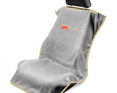 Seat Armour 2005-2013 Corvette Seat Towel, Grey with C6 Z06 Logo SA100COR6ZG