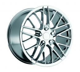 "Corvette Wheel, C6 ZR1, Chrome, 19"" x 10"", +56 Offset, Rear, 1997-2004"