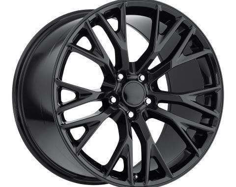 Corvette C7 Z06 Wheel Set, Gloss Black, 2005-2016
