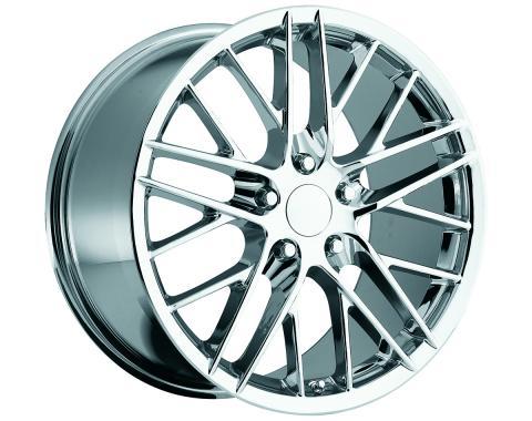 "Corvette C6 2009 ZR1 Style Chrome Wheel Set, 18"" x 8.5""/19"" x 10"", 2005-2013"