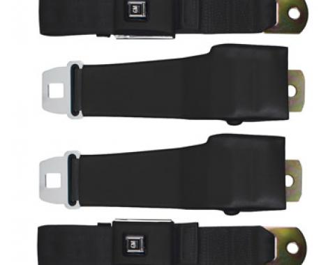 "Seatbelt Solutions 1968 Chevrolet Corvette OE Style Lap Belts, with 12"" Sleeve"