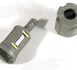 Corvette Door Lock Cylinder Kit, Uncoded, 1984-1996