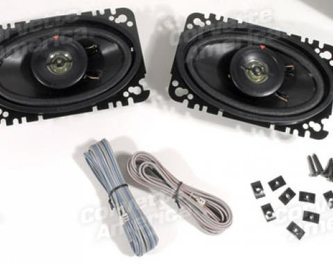 Corvette Speaker, Front 60 Watt Kenwood 4X6, 1968-1982