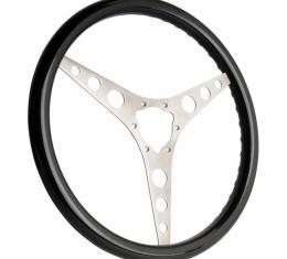 """Corvette Steering Wheel, Black, 3 Spoke 15"""", 1956-1962"""