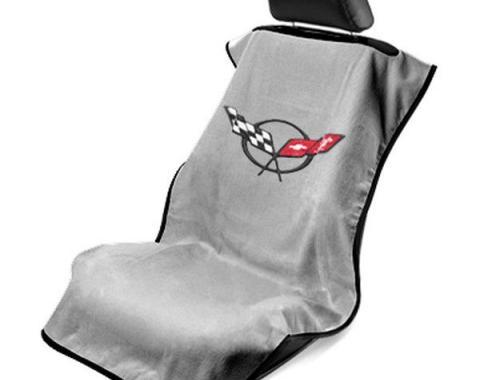 Seat Armour 1997-2004 Corvette Seat Towel, Gray with C5 Logo SA100COR5G