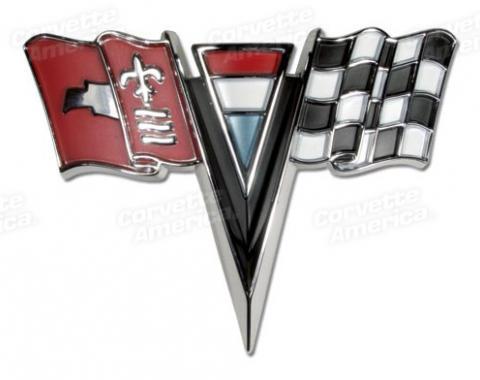 Corvette Emblem, Nose, 1963-1964