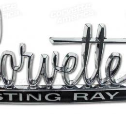 Corvette Emblem, Stingray, Hood and Rear Deck, 1966-1967