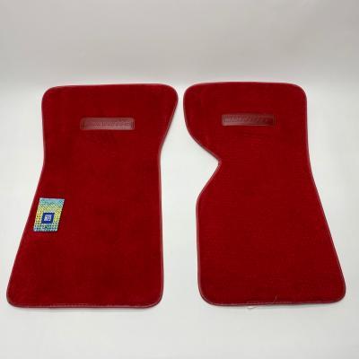 Corvette Floor Mats, 2 Piece ACC Cutpile, Torch Red (9936) BLEM 1968-1976