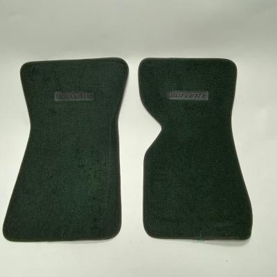 Corvette Floor Mats, 2 Piece ACC 80/20 Loop, Dark Green (08), BLEM 1968-1976