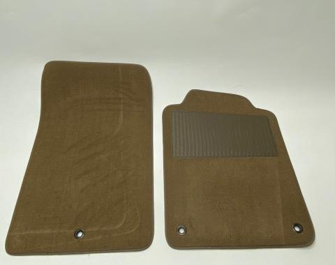 Corvette Floor Mats 2pc Truvette With Heel Pad, Oak (T577) BLEM 1997-2013