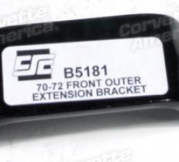 Corvette Front Bumper Outer Extension Bracket, 1970-1972