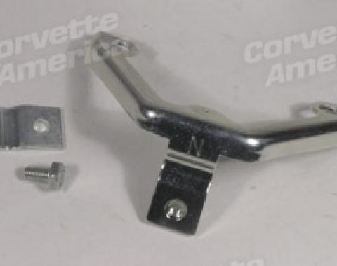 Corvette Accelerator Cable Support Bracket, with Clamp 3X2, 1968-1969