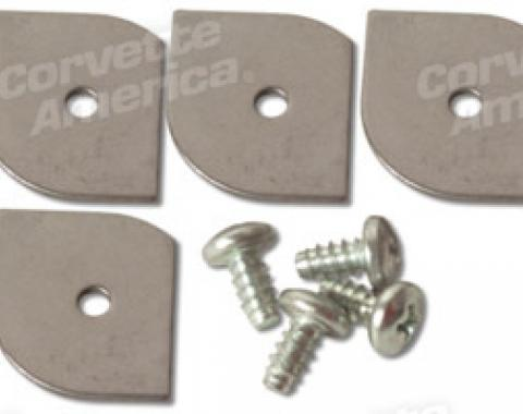 Corvette Glove Box Molding Retainers/Screws, 1956-1962