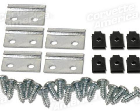 Corvette Grille Molding Mounting Kit, 20 Piece, 1963-1964