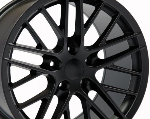 "17"" Fits Chevrolet - C6 ZR1 Wheel - Satin Black 17x9.5"