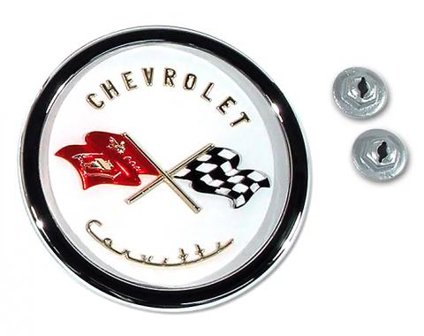 Corvette Emblem, Nose Assembly, 1953-1955