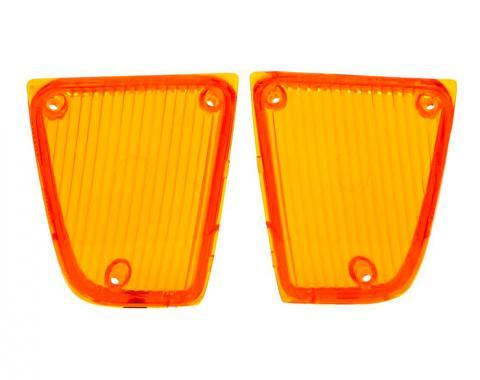 Trim Parts 72 Corvette Amber Parking Light Lens, Pair A5310