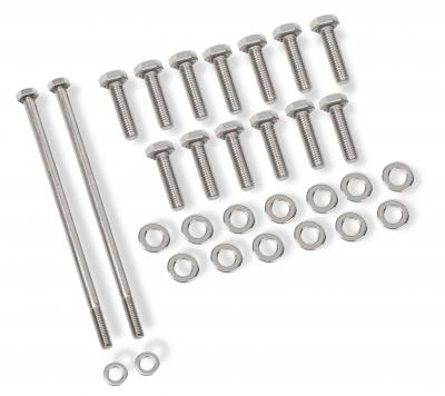 Chevy LS Oil Pan Bolt Kit, Polished Stainless Steel