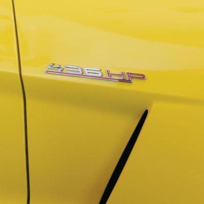Corvette Custom Horsepower Billet Chrome Badge Kit