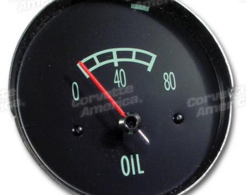 Corvette Oil Gauge, 80#, 1965-1967