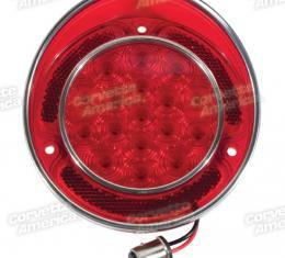 Corvette LED Taillight, Red, 1968-1973