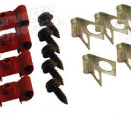 Corvette Brake Line Clips, 14 Piece, 1963-1966