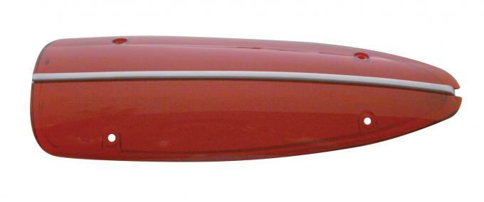 United Pacific Stainless Steel Outer Tail Light Lens For 1958-60 Chevy Corvette C5860